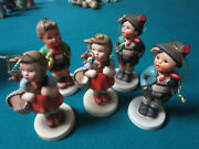 Schmid Collection Of 5 Ceramic Christmas Ornament Hummel Figurines