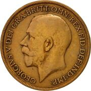 [542892] Coin Great Britain George V Penny 1919 Vf20-25 Bronze Km810