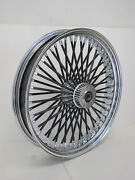 Dna Mammoth 18x3.5 Front Fat 52 Black Spoke Wheel Harley Touring Softail