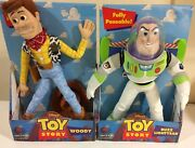 1996 Hasbro Disney Toy Story Poseable Woody Doll And Buzz Lightyear
