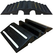 Extreme Rubber Dual Channel Pipe And Hose Ramp Bridges - 4 Size Options