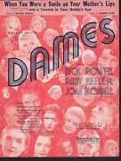When You Were A Smile On Your Mother's Lips 1934 Dames Dick Powell Ruby Keeler