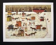 Charles Wysocki Limited Edition Signed Print Cape Cod Cold Fish Party