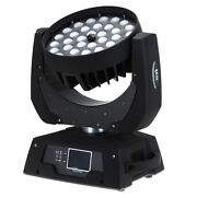 6-color 36x Led Wash 18w Moving Head Rgbwa Uv With Zoom And Touch Control