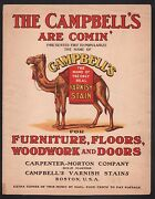 Campbells Are Coming Advertising Varnish Stain Sheet Music