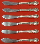 Afterglow By Oneida Sterling Silver Trout Knife Set Hhws 6pc Custom