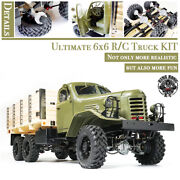 Kingkong Rc 1/12 Scale Ca30/zisl-151 6x6 Soviet Truck With Metal Chassis Kit Set