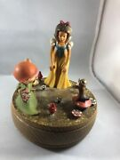Vintage Anri Snow White Dopey Music Box Reuge Disney Someday My Will Come
