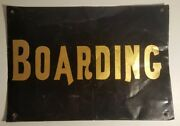 Antique Gold Letters Old Font Boarding Sign Interior Decorate Black Wall Art Ma