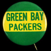 1952 Green Bay Packers 1 3/4 Pinback Celluloid Button