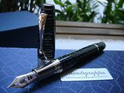 Montegrappa Extra 1930 Zebra Celluloid Fountain Pen Limited Editions Of 50 Pens