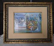 Dimitri Parsons Listed Artist Orginal Signed Dated Acrylic Painting 1963 - 1965