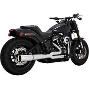 Vance And Hines 17587 Chrome Pro Pipe 2-1 2 Into 1 Exhaust Harley Softail 18-up M8