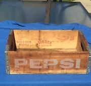 - Pepsi Cola Gross And Jarson Beverage Case Ohio - Ky Wooden Box Crate 24 Bottle