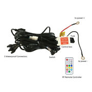 3 In 1 Control Box Wiring Harness + Rf Remote For Chasing Rgb Halo Led Light Bar