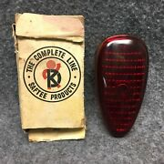 1939 Plymouth Cars K-d Triflex No. 274 Red Glass Tail Lamp Lens Nos 34729