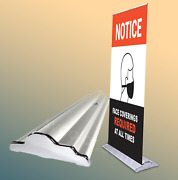 36 Silverstep Retractable Banner Stand - 80 H Graphic Package