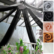 30 Feet Long Premium Sheer Voile Ceiling Draping Panel Wedding Party Decorations