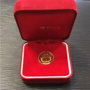 Popoitto Hebereke First Prize Pure Gold Medal Gold Coin 24k Vintage Rare F/s