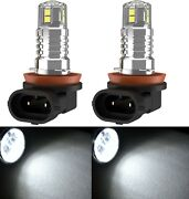 Led 20w H8 White 6000k Two Bulbs Fog Light Replacement Upgrade Stock Halogen Fit
