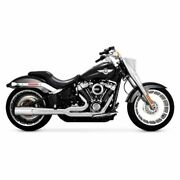Vance And Hines Chrome Pro Pipe 2 Into 1 2-1 Exhaust Harley 18+ Softail Fxbr Flfb