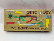 Vintage Ohio Art Busy Boy Tool Chest Vinyl Toys Toy Lot Saw Hammer Pliers