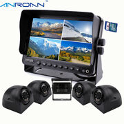 Rv Backup Camera Dvr Kit 9 Quad Screen Monitor With Dvr Recorder For Truck Bus