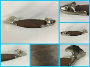 28 Vintage Mid Century Modern Solid Pewter-wood Fish Serving Tray Dish Platter