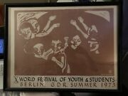 Lucia Vernarelli Print, World Festival Of Youth And Students, Berlin, G.d.r. 1973