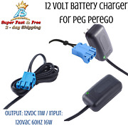 12-volt Charger For For Peg-perego Battery John Deere Ground Force Tractor New
