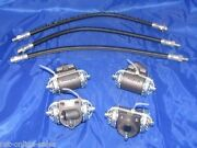 4 Wheel Cylinders With 3 Brake Hoses 1936-1948 Chevrolet Cars Chevy , Full Set