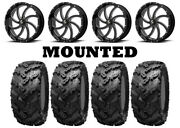 Kit 4 Interco Reptile Tires 30x10-20 On Msa M36 Switch Black Wheels Can
