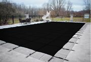 Loop Loc Black Mesh Rectangle Swimming Pool Safety Covers - Choose Size