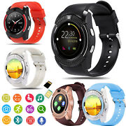 Bluetooth Smart Watch Unlocked Phone For Women Men Android Samsung Huawei Lg Htc