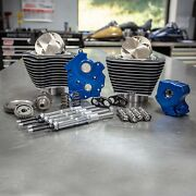 Sands 124 M8 Power Package Big Bore Highlighted Gear Cam Chrome Pushrod Water Coo