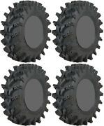 Four 4 Sti Outback Max Atv Tires Set 2 Front 27x10-14 And 2 Rear 27x10-14