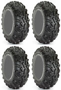 Four 4 Carlisle At489 Atv Tires Set 2 Front 24x8-12 And 2 Rear 24x11-12 489 A/t