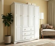 100 Solid Wood Family Wardrobe/armoire/closed 5 Colors. No Shelves Included
