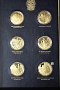The Churchill Centenary Medals - Set Of 24 Sterling Gold Plated Medals Ooak