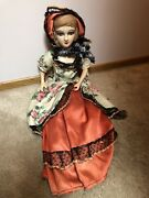 Antique Vintage Boudior Doll In Original Clothes Plaster Head, Hands And Feet
