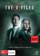 The X-files 1-11 1993-2018 Complete Mulder + Scully Tv Season Series Au Rg4 Dvd