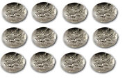 Repousse By Kirk Sterling Silver Individual Nut Dish Cup Set Of 12 Custom