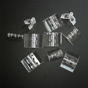 Pack Of 10 Transparent Clear Plastic Acrylic 25mm Continuous Piano Hinge Hinges