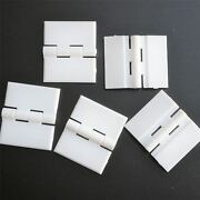 5x White Acrylic Hinges 32mm X 38mm White Hinges Continuous Acrylic Piano Hinge