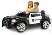 Kids Ride On Police Car Style Dodge Pursuit 12v Mp3 Electric Battery Rc Toy Gift
