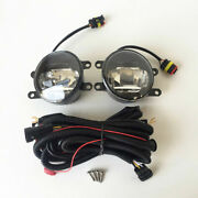 Fit 2010-2014 Toyota Prius Fog Lights Kit 6000k Built-in Led With Drl And Wiring