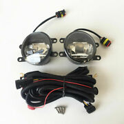 6000k Built-in Led Fog Lights Kit With Drl And Wiring Fit 2010-2014 Toyota Prius