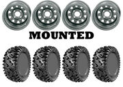Kit 4 Gbc Dirt Commander Tires 25x8-12/25x10-12 On Itp Delta Steel Silver Wct