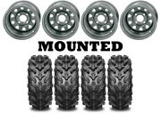 Kit 4 Interco Swamp Lite Tires 26x10-12/26x12-12 On Itp Delta Steel Silver Wct