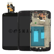 Lg Google Nexus 4 E960 Lcd Display Touch Screen Digitizer Glass + Frame Assembly